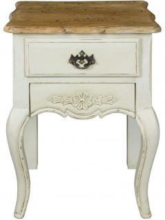 shabby chic painted mango wood drawer lamp table