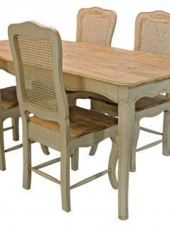shabby chic painted mango wood dining table