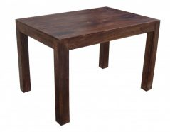 1.18 Meter small dark mango wood 4 seater dining table