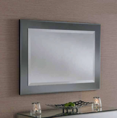 grey art deco mirror