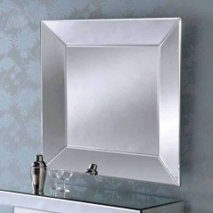 silver art deco mirror