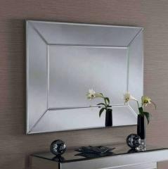 silver art deco mirror