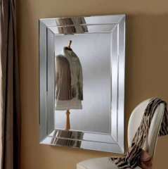 Double curved frame mirror