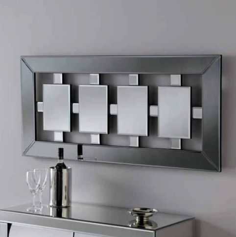 grey art deco mirror