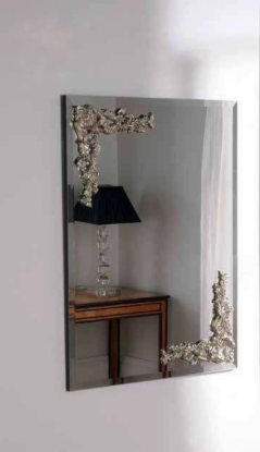 contemporary mirror with double carving