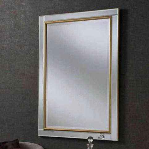 gold contemporary mirror