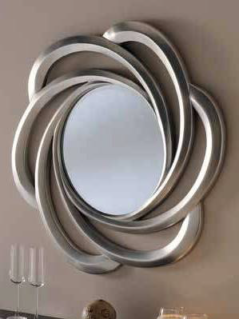silver contemporary mirror