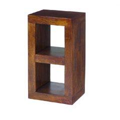 Dark Mango Wood 2 Hole Cube Unit
