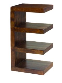 Dark Mango Wood 4 Shelf Unit