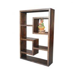 Dark Mango Wood 5 Hole Cube Unit