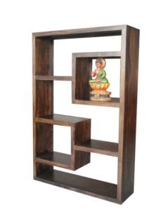 Dark Mango Wood 5 Hole Cube Unit