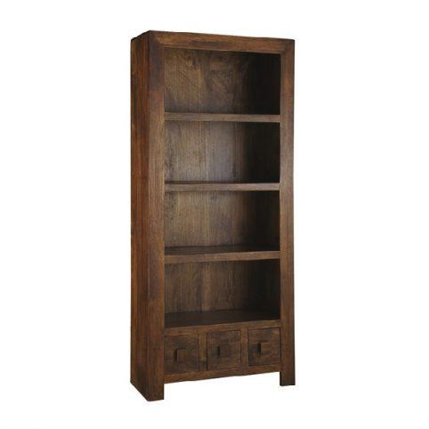 Dark Mango Wood Bookcase