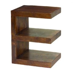 Dark Mango Wood E Shelf Unit