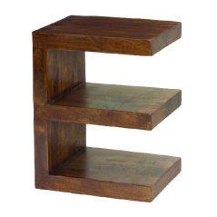 Dark Mango Wood E Shelf Unit