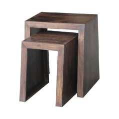 Dark mango Wood Nest of 2 Tables