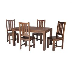 145cm Solid Dark Mango Wood Dining Table
