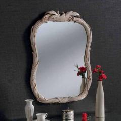 ivory ornate gilt mirror