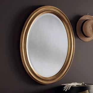 oval gold ornate gilt mirror