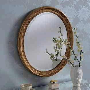 gold oval ornate gilt mirror