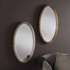 oval gold silver ornate gilt mirror