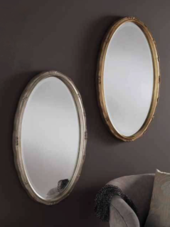 oval gold silver ornate gilt mirror