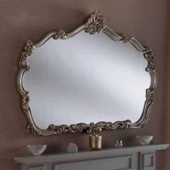 silver ornate gilt mirror