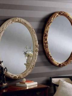 oval ivory gold ornate gilt mirror