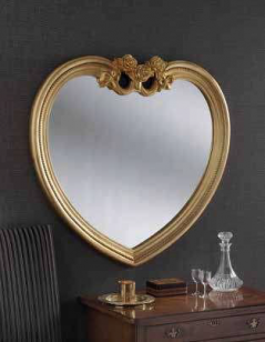 gold heart ornate gilt mirror