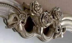 details silver heart ornate gilt mirror