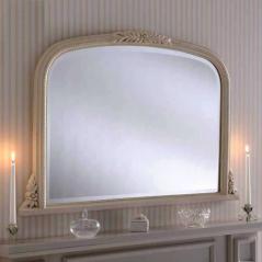 ivory overmantle mirror