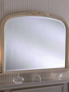 ivory overmantle mirror