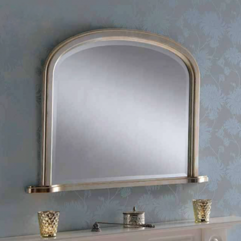 silver overmantle mirror