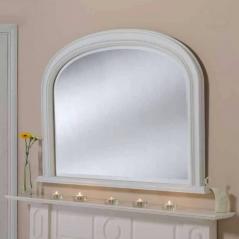 white overmantle mirror