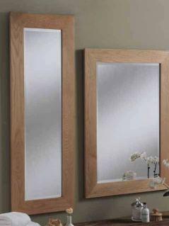 solid oak rectangular mirror
