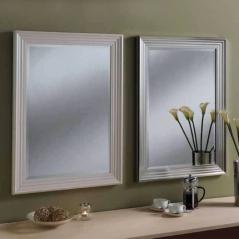 white silver rectangular classic mirrors