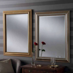 silver gold rectangular classic mirrors