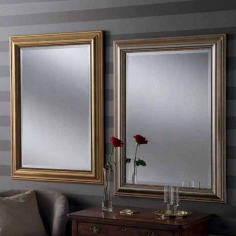 silver gold rectangular classic mirrors