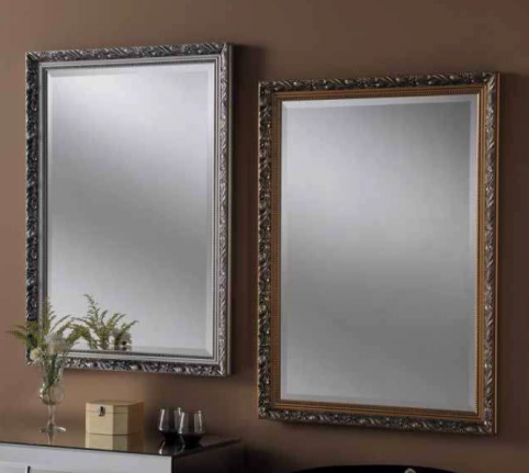 gold silver classic rectangular mirror