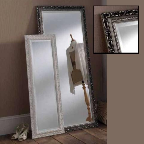 white silver rectangular mirrors