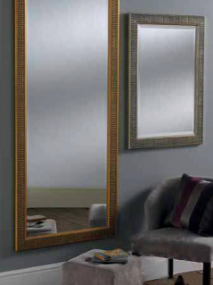 gold silver rectangular mirror