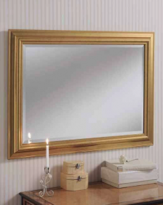 gold rectangular mirror