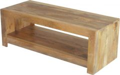 Light mango wood Coffee Table / Media Unit