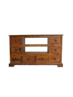 Sheesham wood 8 Drawer TV unit Media Unit