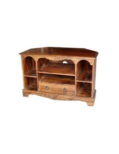 Sheesham wood carved media unit