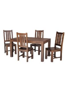 Dark mango wood medium dining table_2