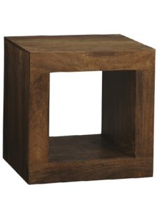 Dark mango wood Cube Unit