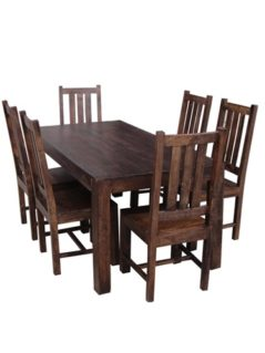 Dark Mango Wood Large Dining Table_2