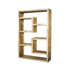 light mango wood bookcase_2