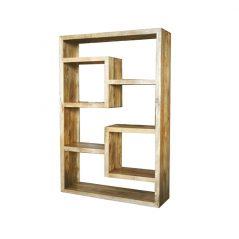 light mango wood bookcase_2