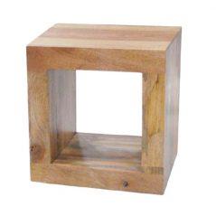 light mango wood cube